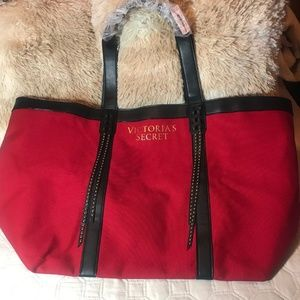 Victoria's Secret Large Red Tote Bag NWOT